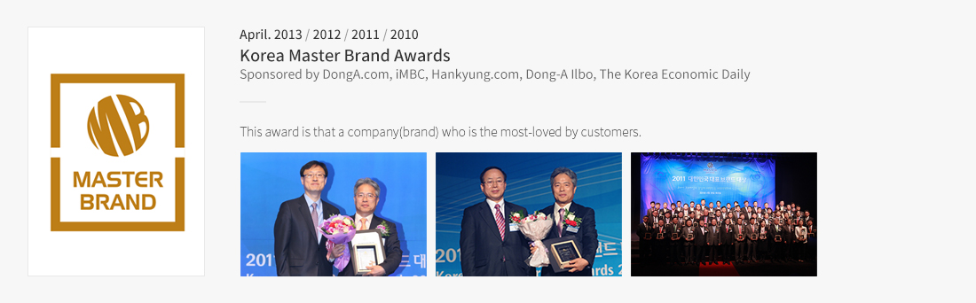 Korea Master Brand Awards